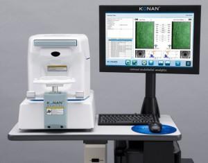 Spekularni mikroskop - aparat za določanja števila endotelnih celic roženice in vivo