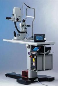 Zeiss Laser za Yag kapsulotomijo in Argon lasersko terapijo mrežnice