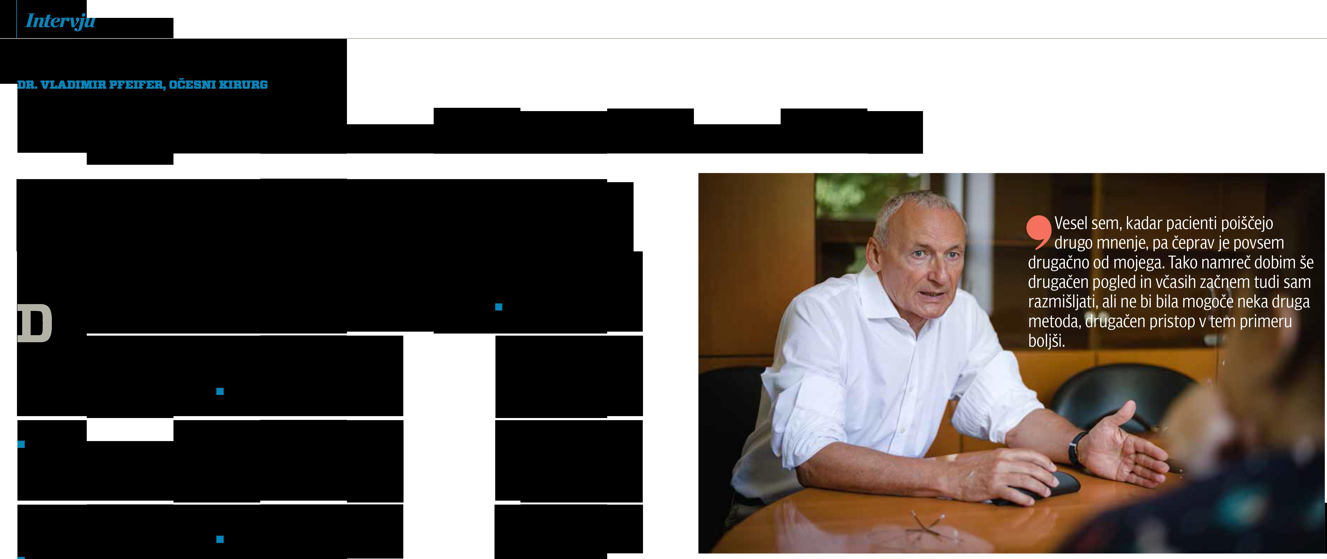 MEDICINA Danes - Intervju z DR. Vladimirjem Pfeiferjem - september 2019