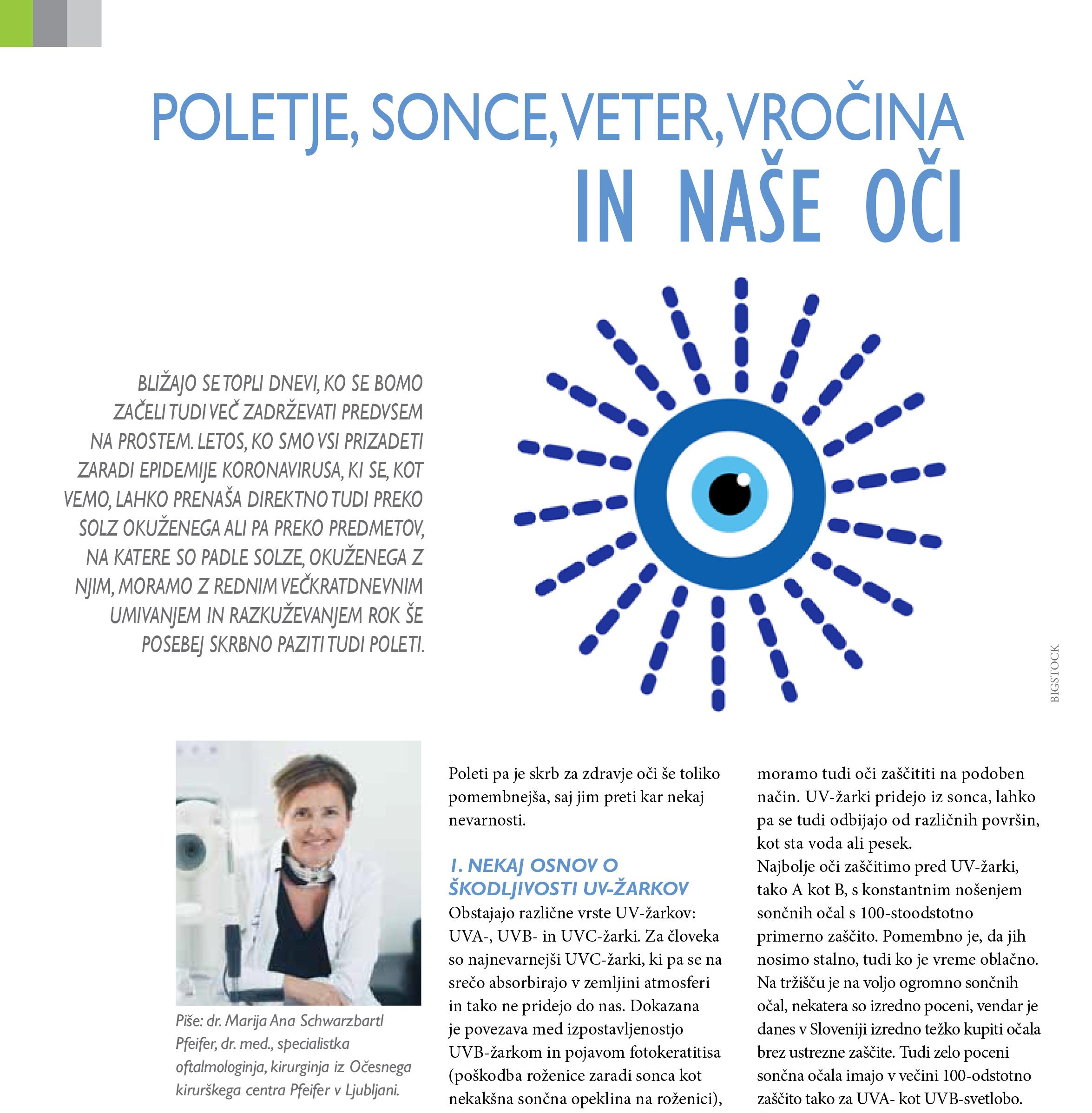 Revija Nova Medicina - Poletje,sonce in naše oči - junij 2021