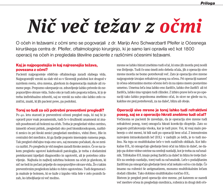 Revija Reporter - Niče več težav z očmi - februar 2019