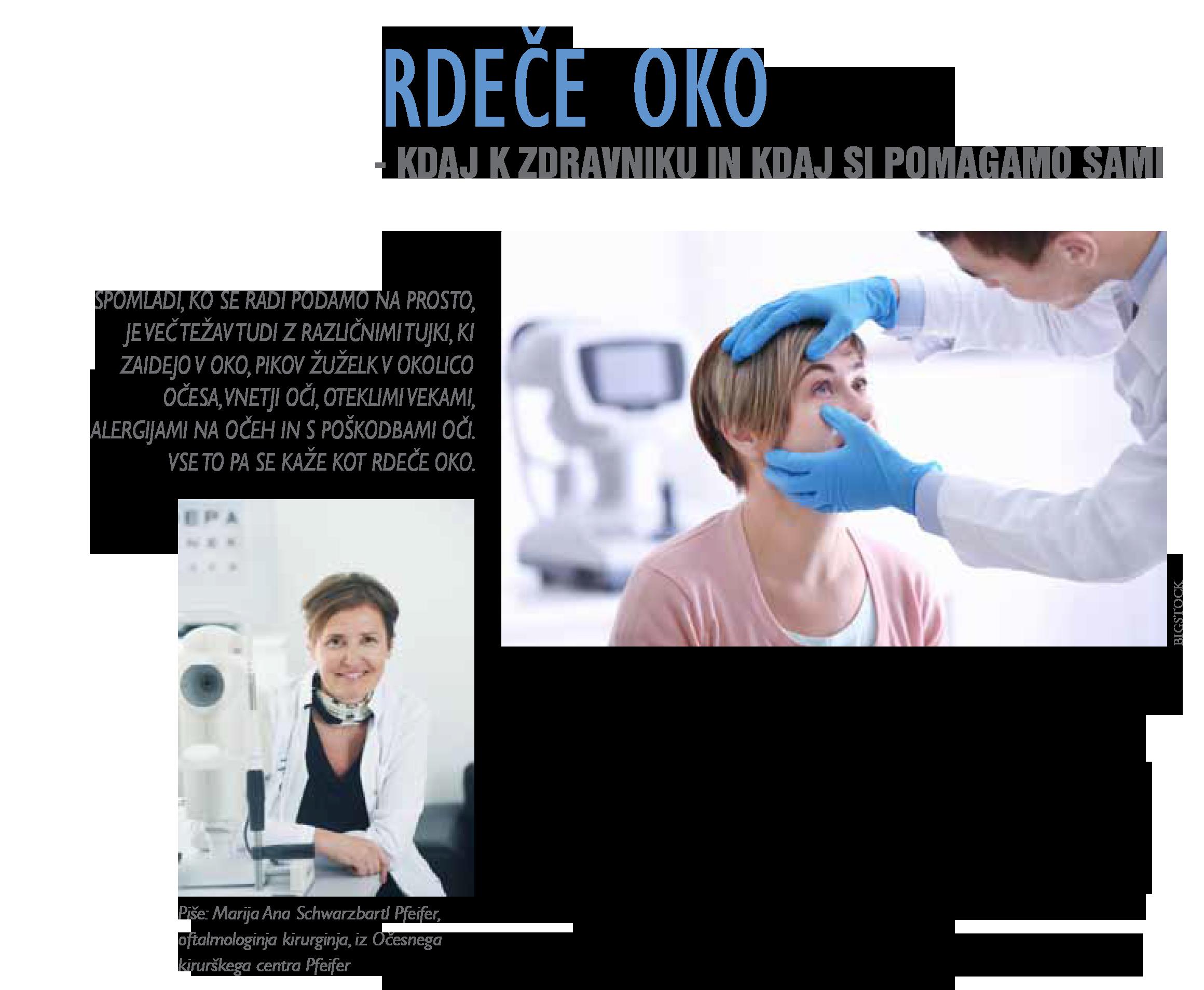 Revija Moje Zdravje - Rdeče oko - maj 2019