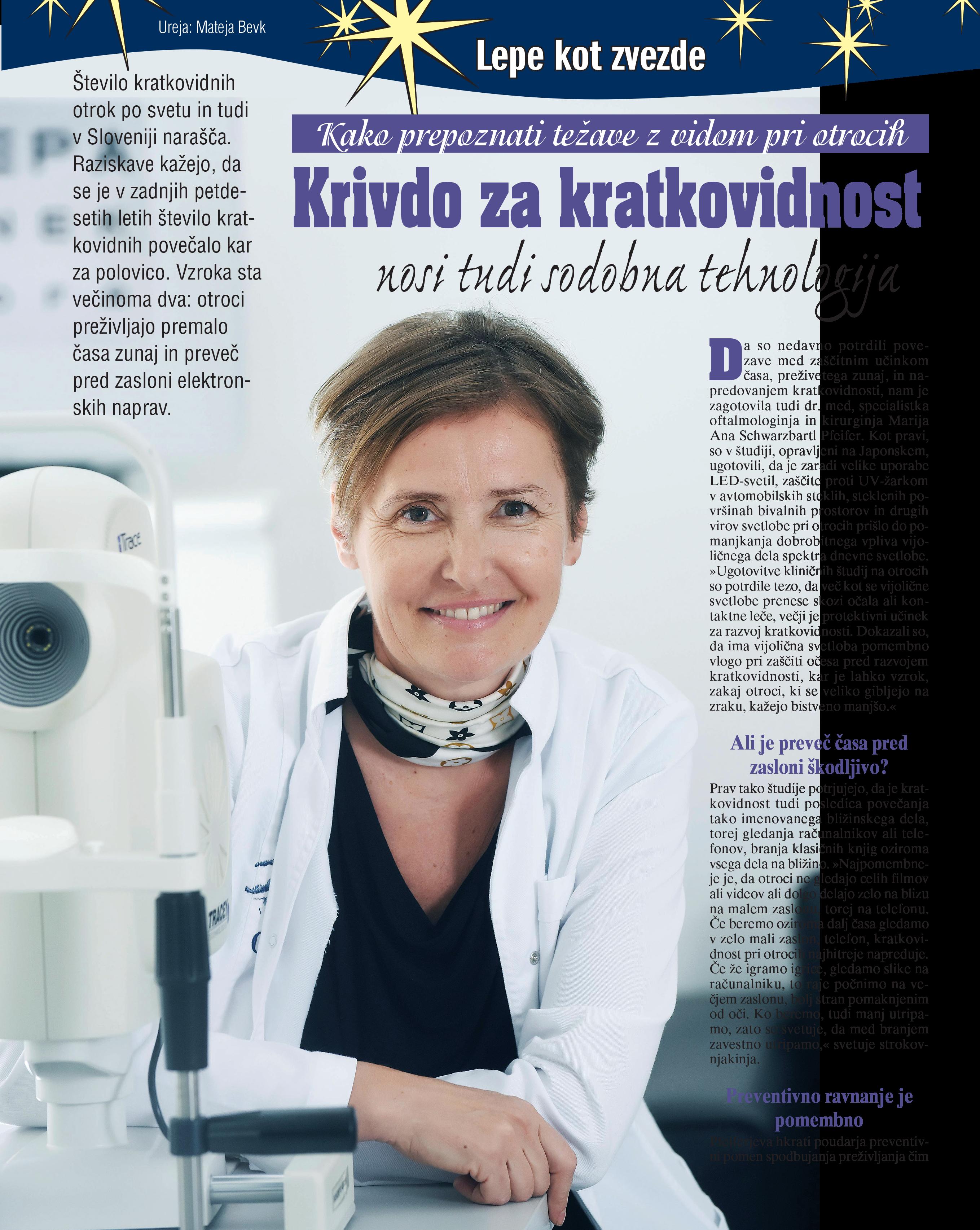 Revija Zvezde/Lady - Krivdo za kratkovidnost nosi tudi sodobna tehnologija - oktober 2020
